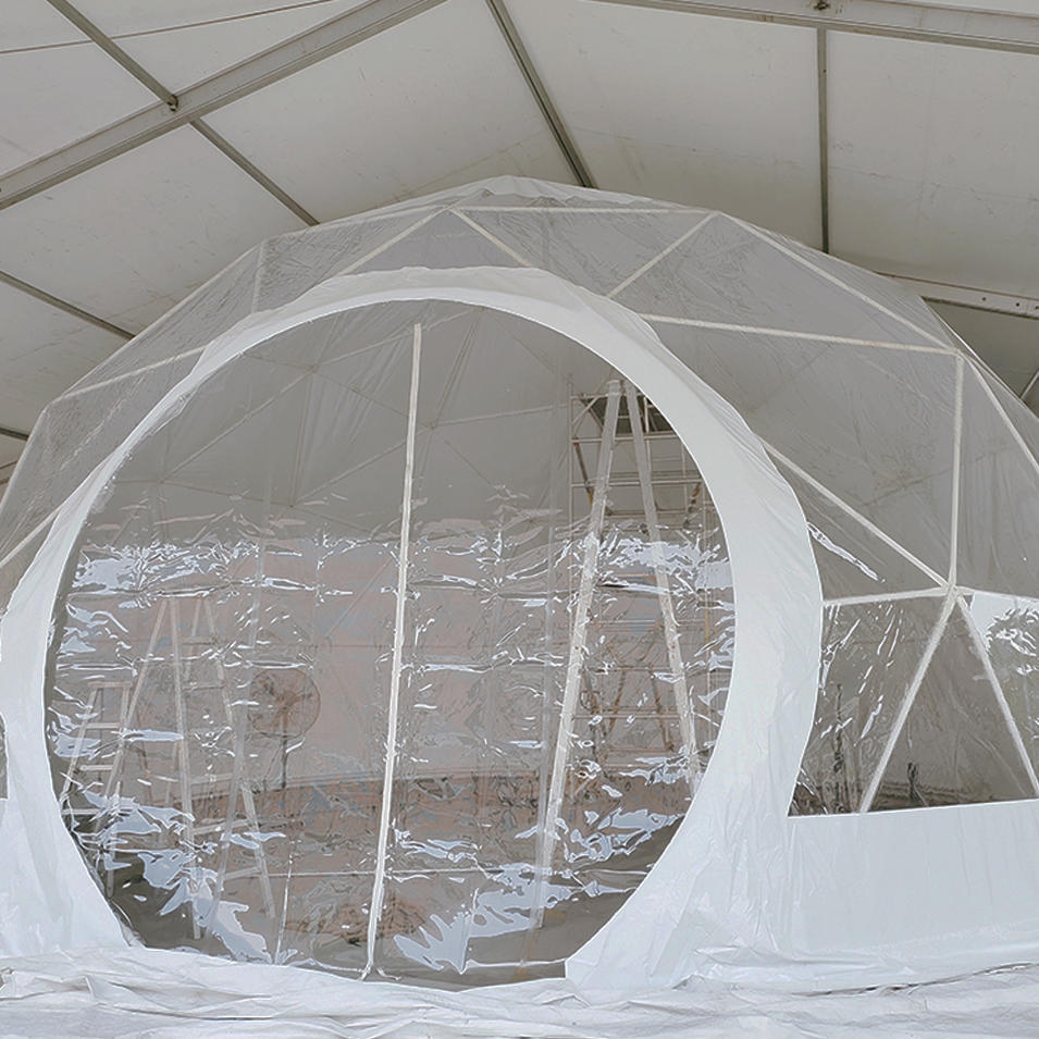 Waterproof and fireproof clear geodesic dome tent for outdoor events