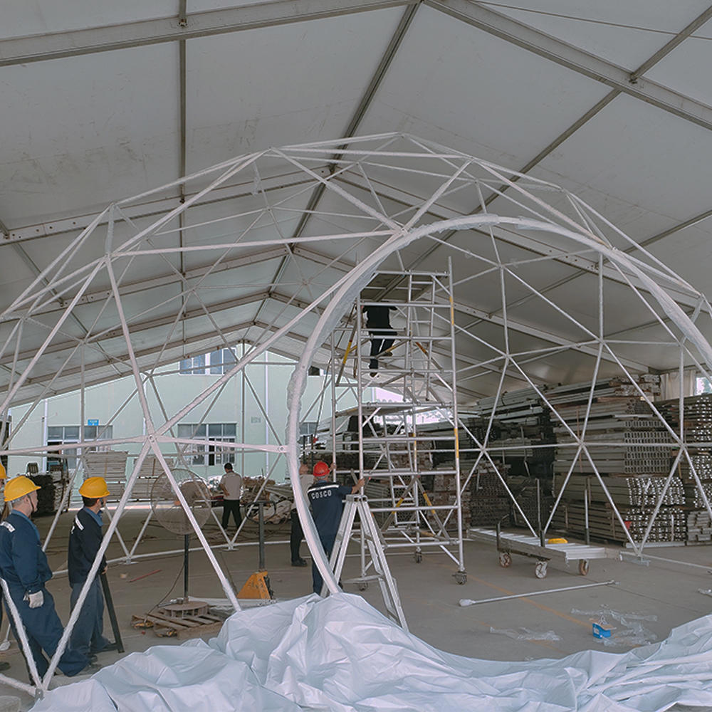 6m,10m,15m,20m Diameter events luxury hotel transparent dome tent for camping