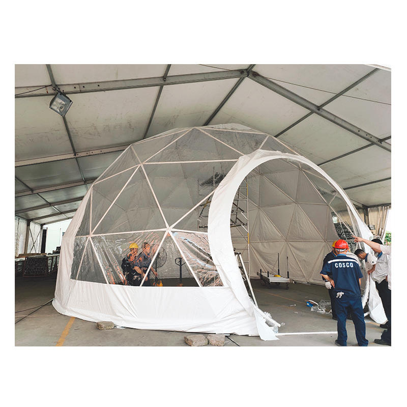 New Design Outdoor Event 10M Clear Igloo Aluminium Frame Transparent PVC Coated Big Geodesic Dome Tent