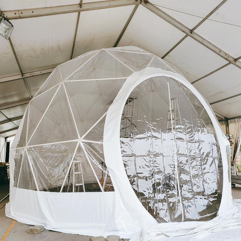 10M Cheap Factory Price Anti-corrosion Steel Geodesic Dome House