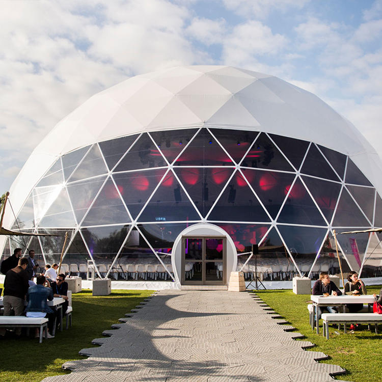 Custom Size Clear PVC Luxury Geodesic Dome Tents For Outdoor Party Event