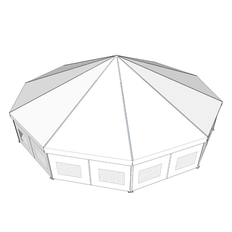 COSCO Professional Custom Outdoor Aluminium Frame Special Polygonal Tent Decagon Tent