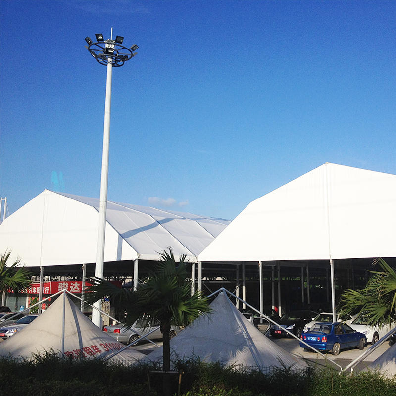 COSCO Outdoor Aluminum Structure PVC Fabric Large Polygon Tent Car Shelter Garage Tent For Car Parking Shed