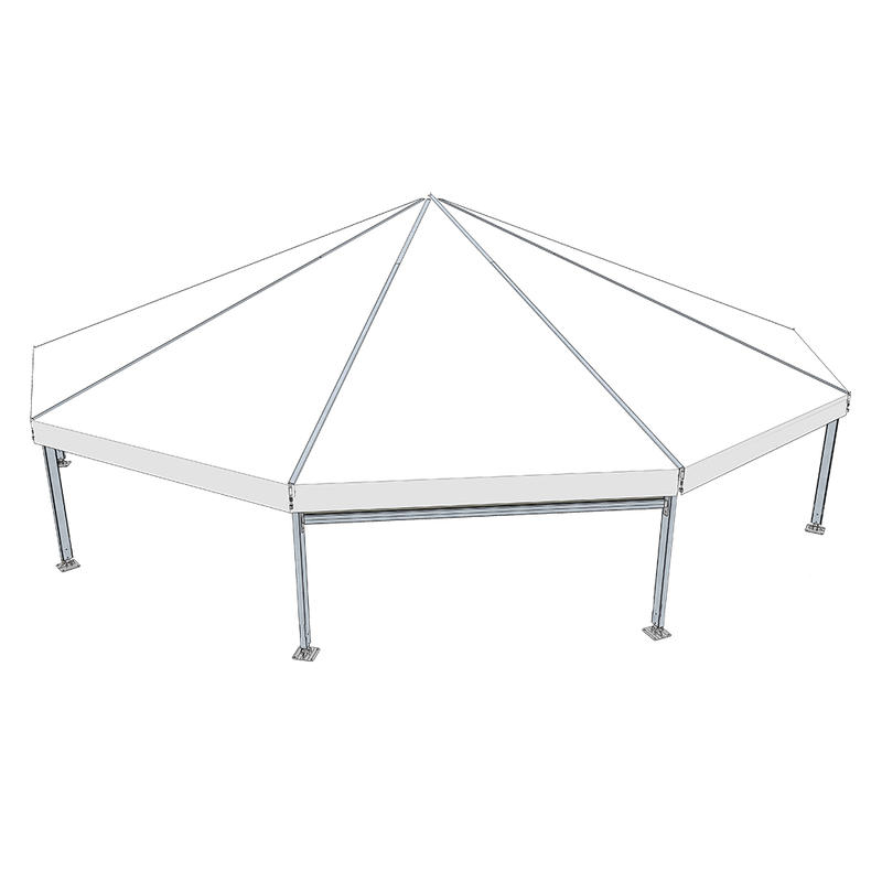 COSCO Decagonal Polygon Aluminum Frame Tent For Outdoor Wedding Party Event