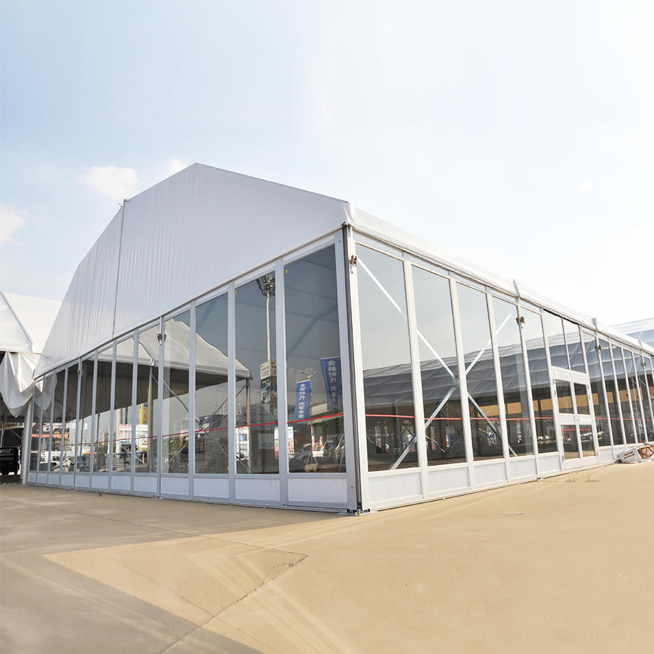 Aluminum frame polygonal pvc coated roof glass sidewall tents for weddings