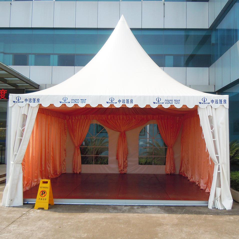 COSCO New Design Outdoor Aluminium Profile Pagoda House Tent For Wedding Party