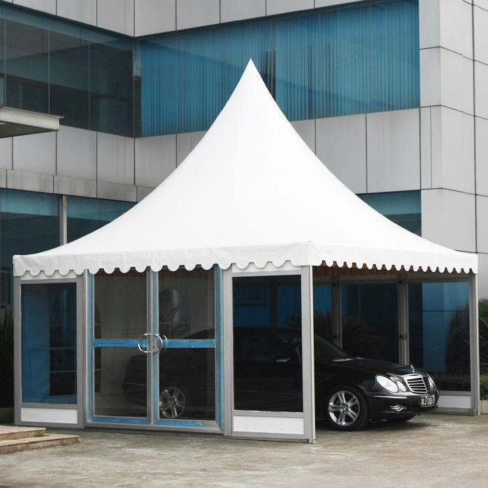 COSCO Hot Selling Waterproof Glass Sidewall Garden Pagoda Tent