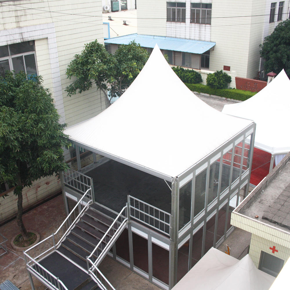Outdoor Aluminum Structure Double Deck Tent House Building Design