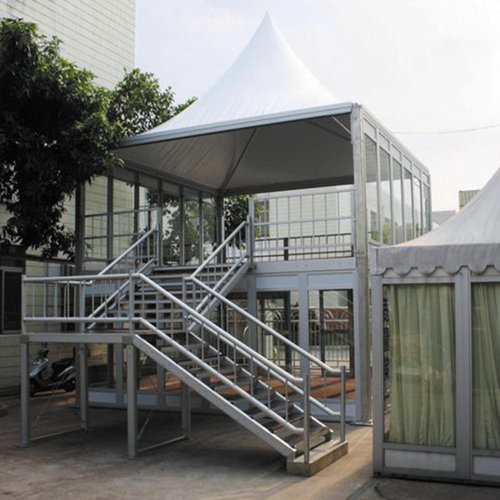 Outdoor Double Decker Tents with Glass Wall