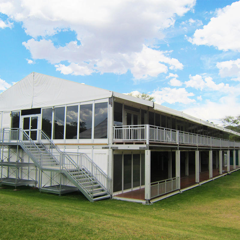 Permanent aluminum Structure outdoor event Double Deck luxury wedding party resort tent horse