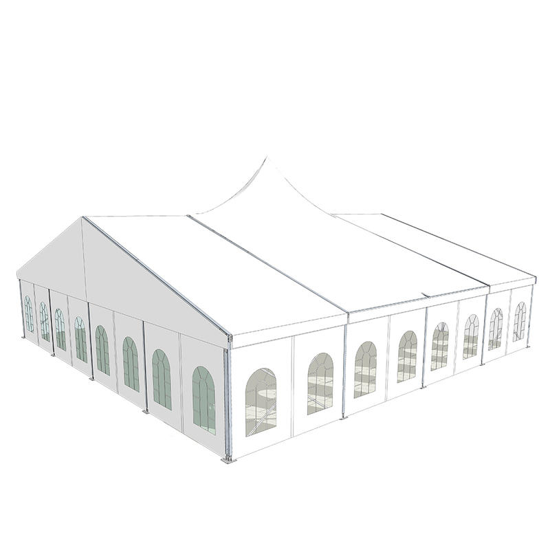 COSCO Outdoor Aluminum Structure Luxury Combo Wedding Party Tent Mixed Event Tent