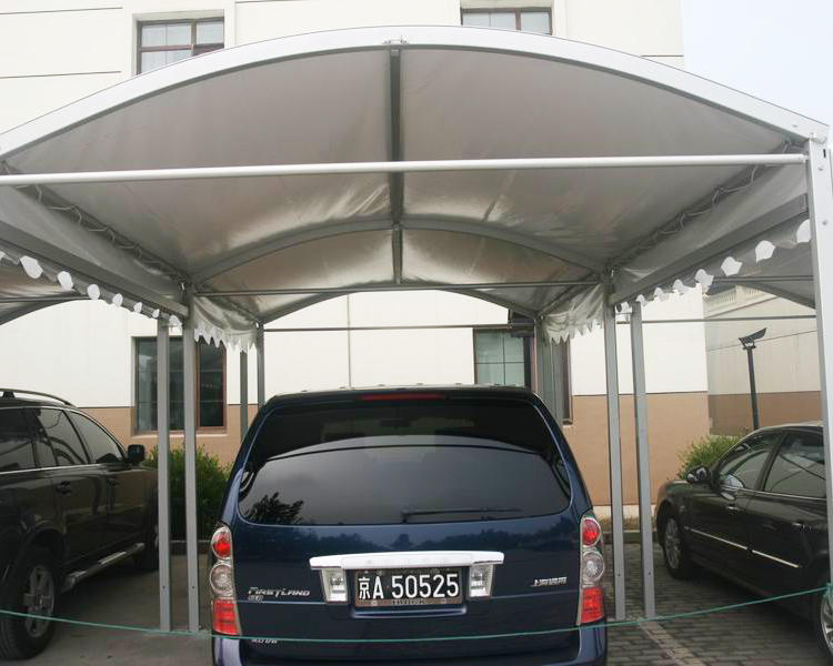UV Resistance Outdoor Aluminum PVC Canopy Car Parking Shade Covers Garage Carport Tent