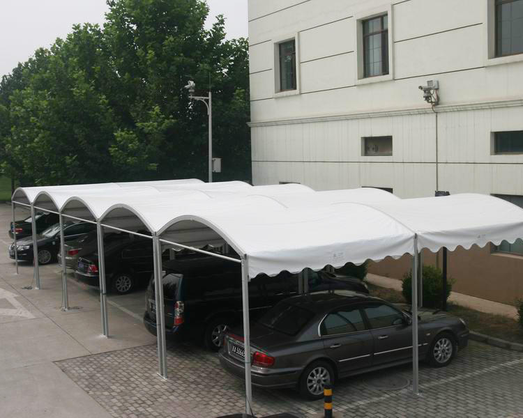 Outdoor Dome Curved Roof Aluminum Frame PVC Canopy Sun Shade Carport Tent