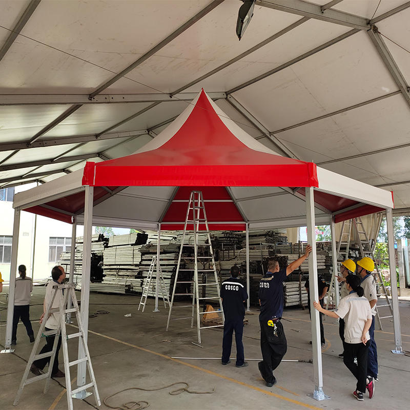 Aluminum Alloy Frame Colored Double PVC Coated Polygonal Octagonal Pagoda Gazebo Party Tents