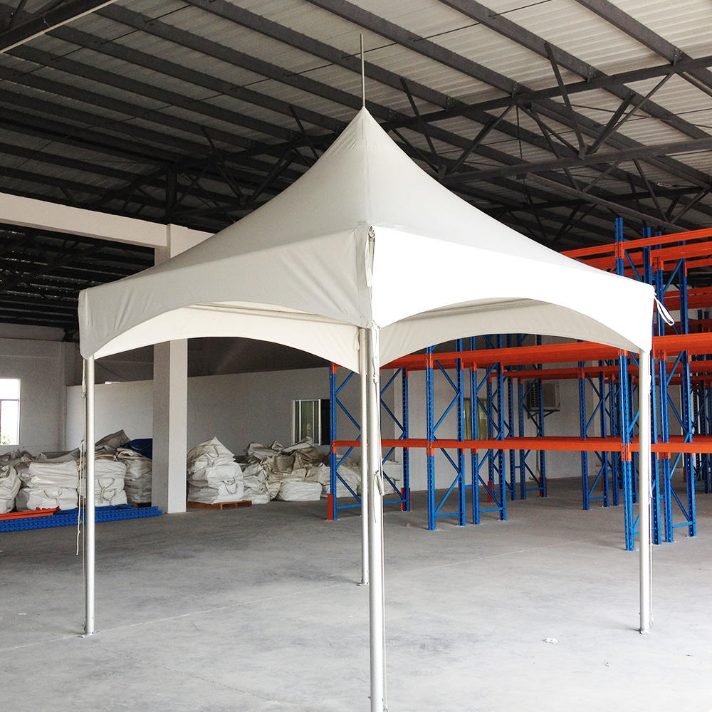 White Aluminium and PVC coated Pagoda Outdoor Tent for wedding party With decoration