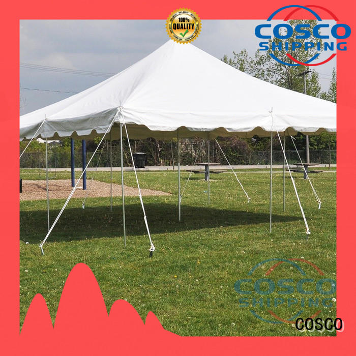 COSCO outstanding tent event in-green for holiday