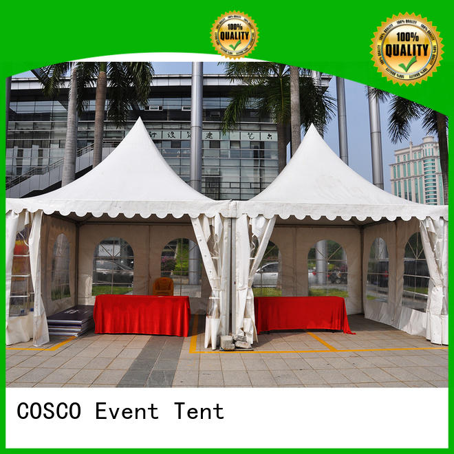 COSCO peg and pole event tent effectively