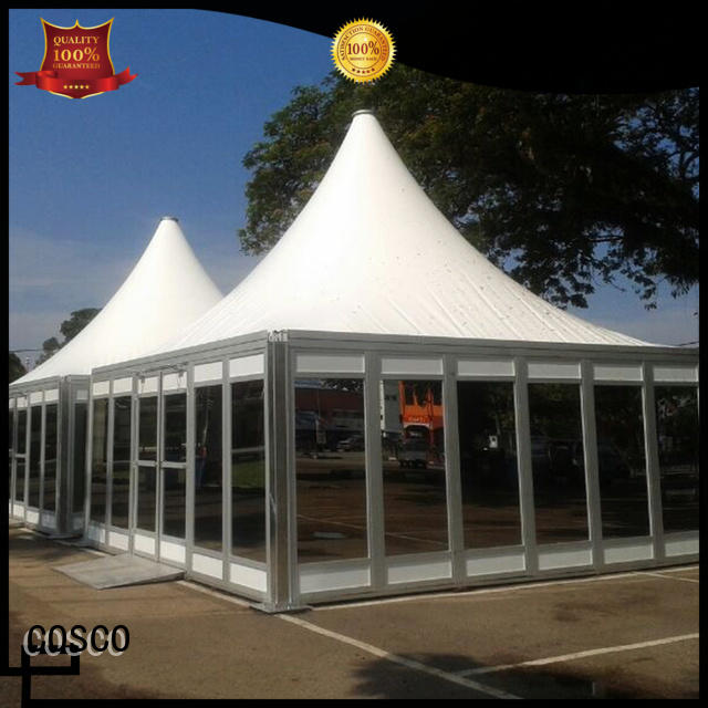 COSCO from wedding tent in-green snow-prevention