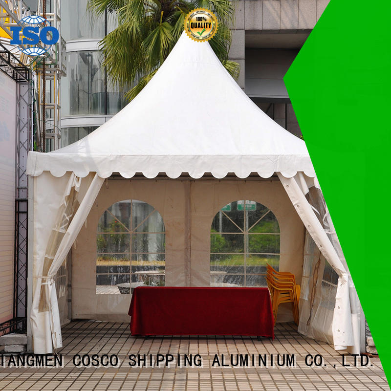 COSCO aluminum gazebo tents effectively for disaster Relief