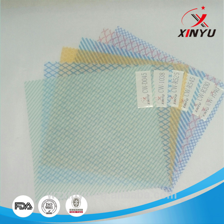 100% Printed Viscose/Polyester Nonwoven Fabric for Household Cleaning
