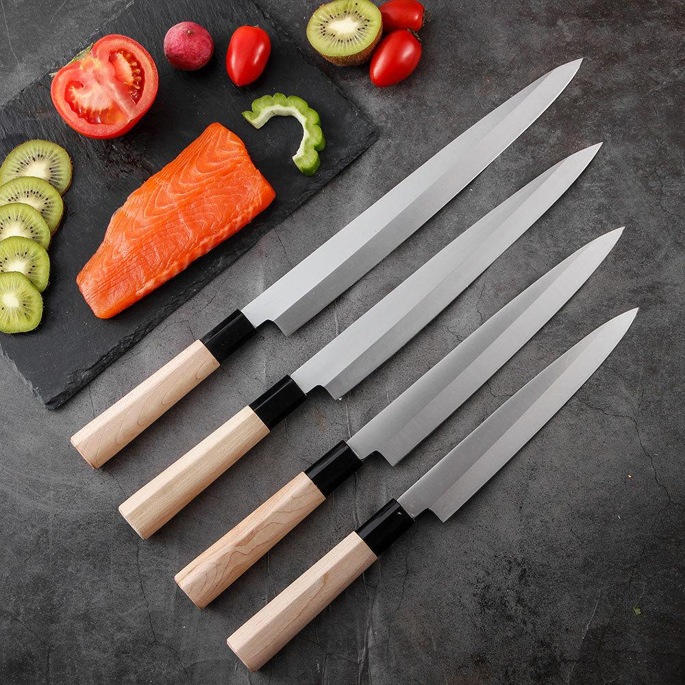RUITAI 4Cr13 Maple wood handle sashimi knife deba fish knife