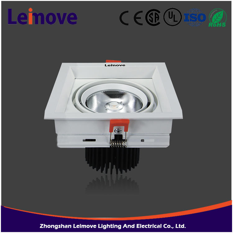 Factory supply Ac100-240V 24w dimmable cob remote control led downlight