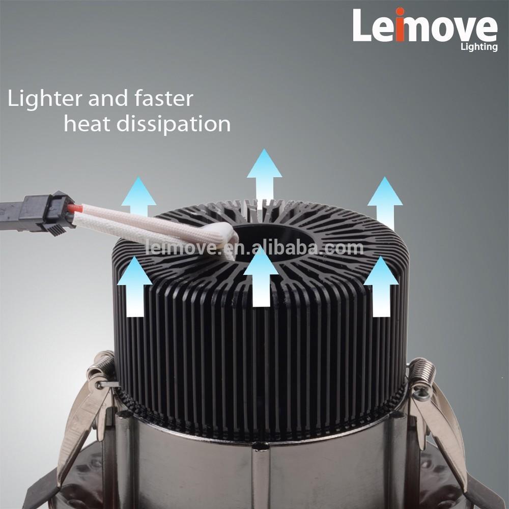 Color Temperature Adjustable 60degree beam angle 5W anti-glare led downlight