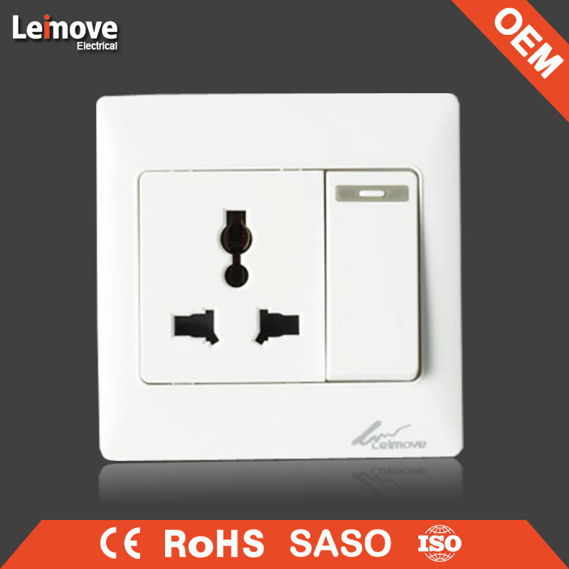 Fashion 1 gang 3 way wall button Leimove pressure switch