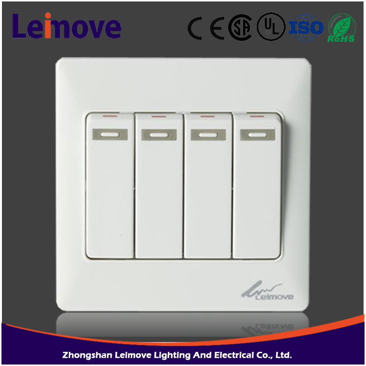 10A 250V 4 gang 1 way hidden camera light switch high demand products in china
