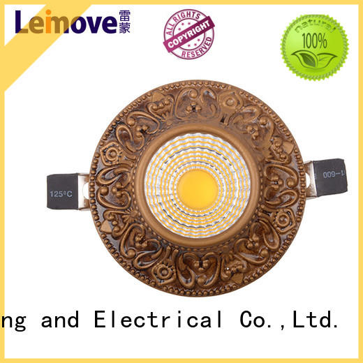 Leimove anti-dazzling led recessed downlights surface mounted for customization