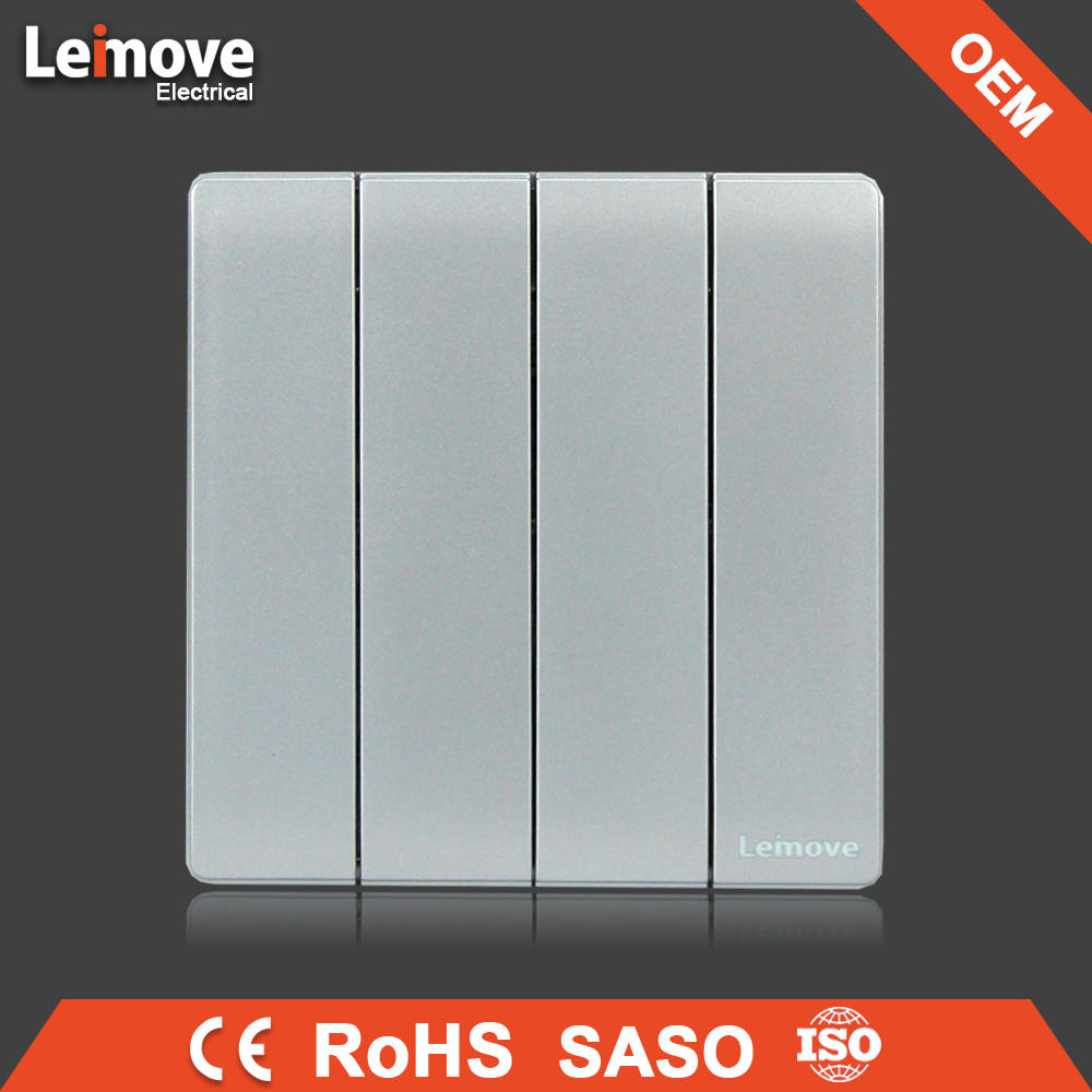 High quality self-powered Gray Leimove touch switch simple two gang two way switch