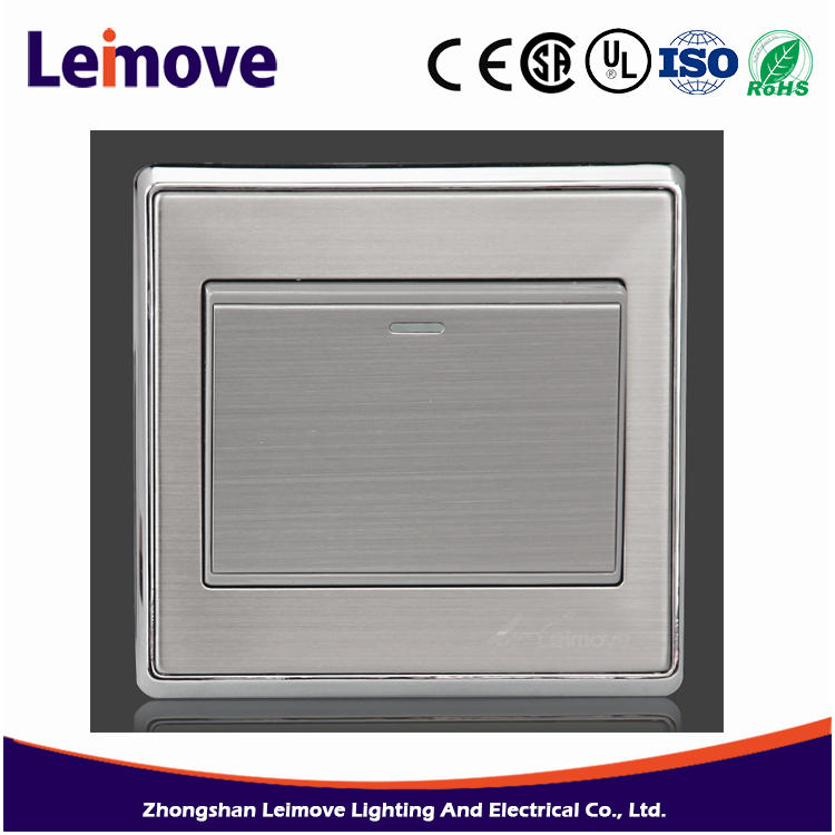 2017 new lighting switch brush silver switch the best selling products made in china