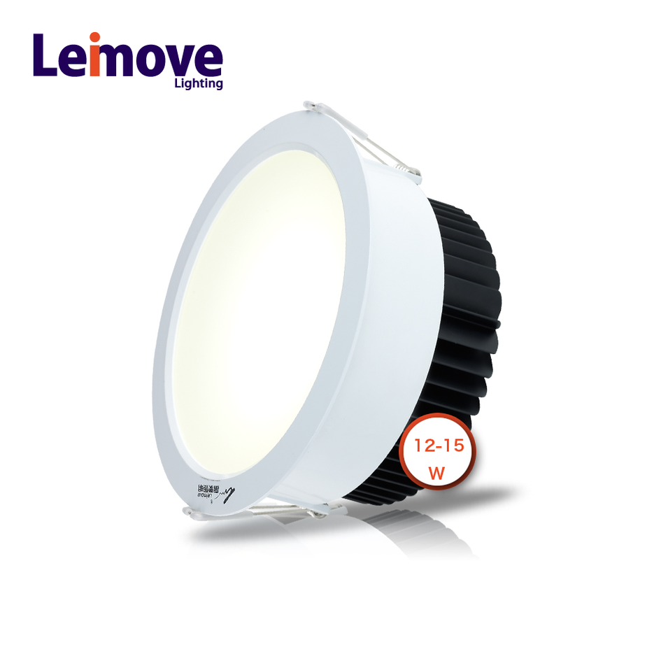 High quality aluminum housing 230v 15w cob led downlight for office buildings,shoppingmalls, home