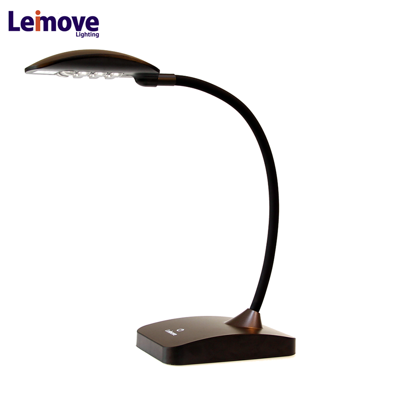 Top quality new arrival patented 6 color blend small led desk lamp
