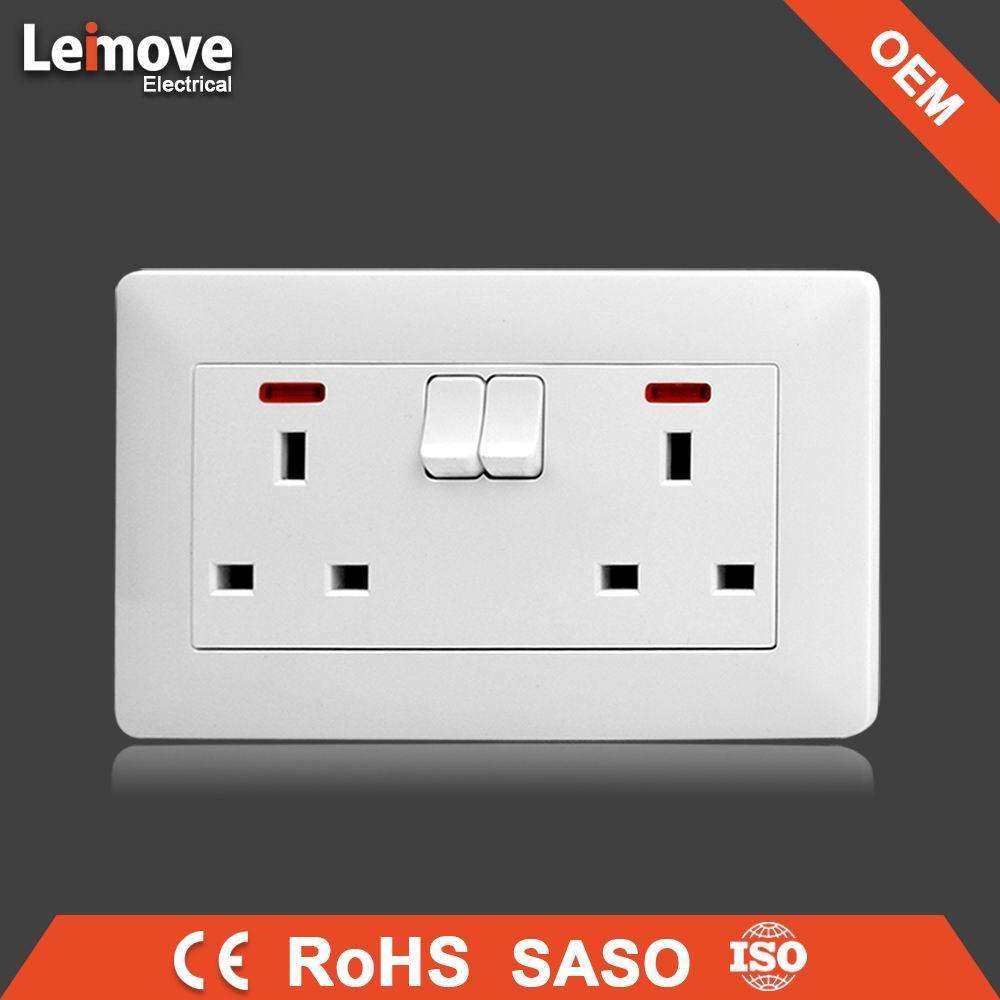 2017 new design double wall outlet double wall switch socket