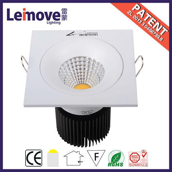 Cob square shape led ceiling light fitting