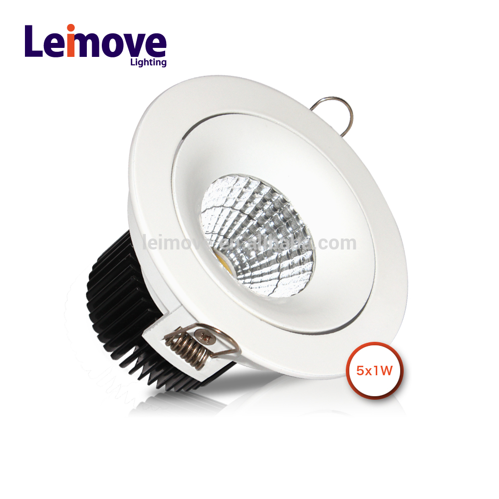 small round 5W high power LED ceiling down light