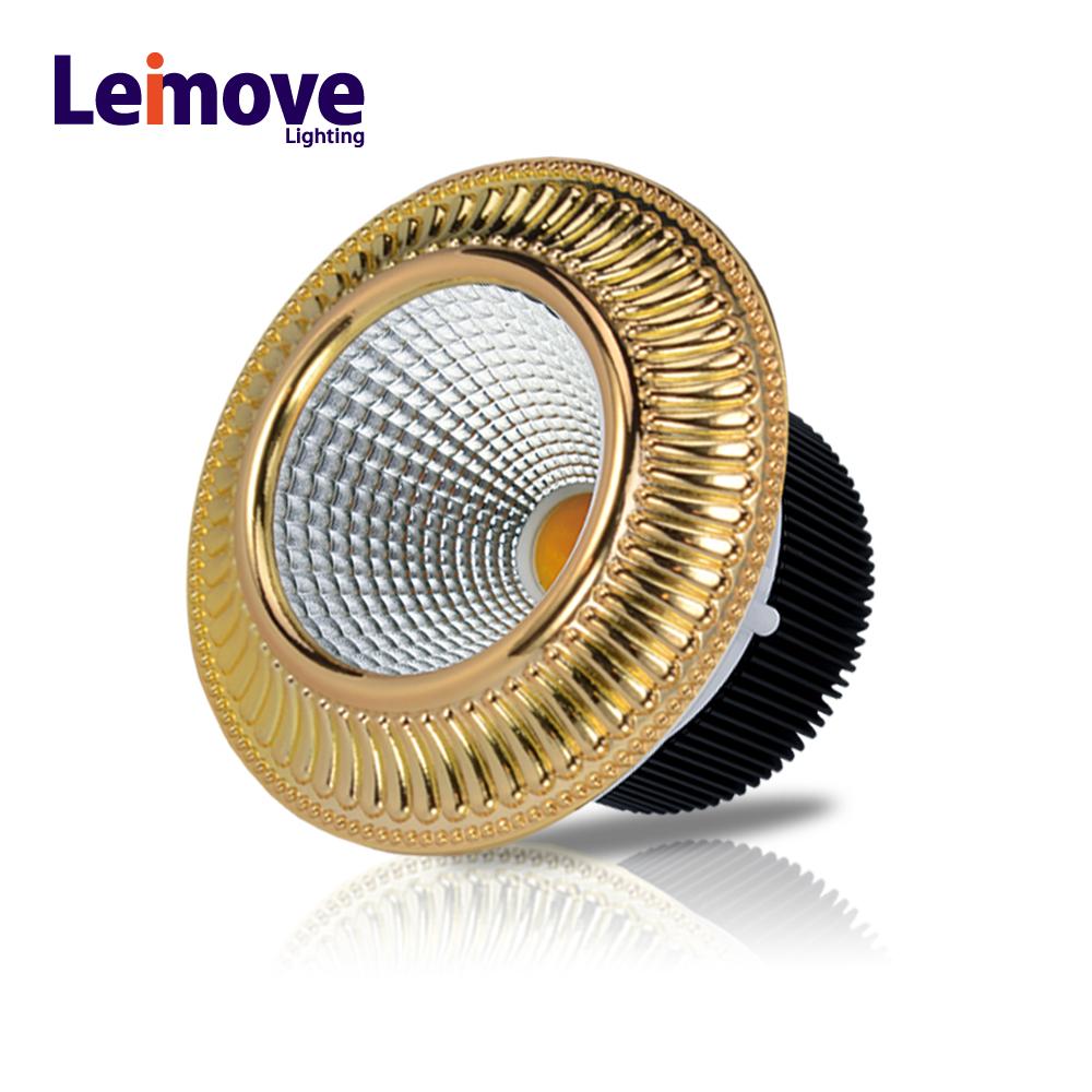 Cost-effective interior lighting LED zinc alloy COB down light