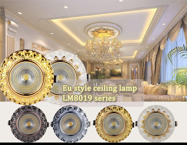15W gold led COB recessed spot light