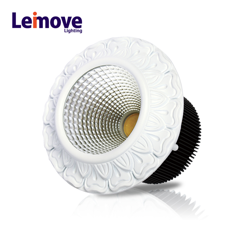 round shape led downlight ce rohs led cob downlight 15w