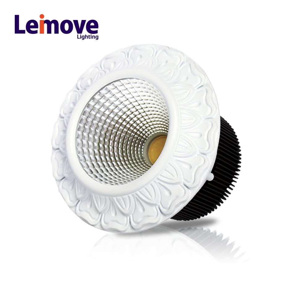 round shape led downlight ce rohs led cob downlight 15w