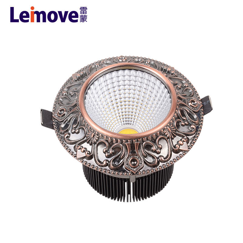 5 inch led recessed downlight cob recessed led cob downlight 10w with anti-glare lens