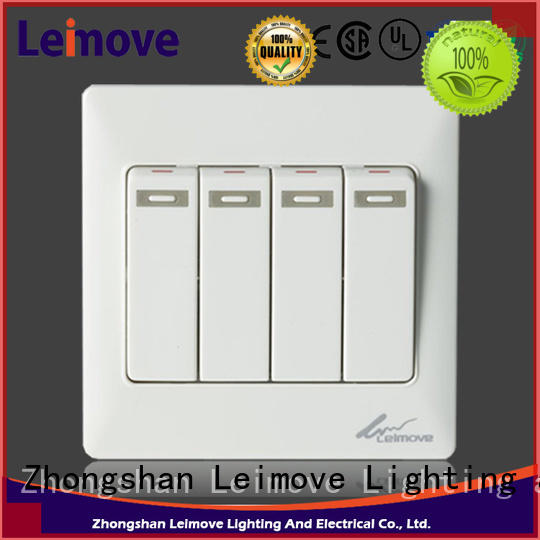 Leimove flame retardant electric switch easy assembly for wholesale