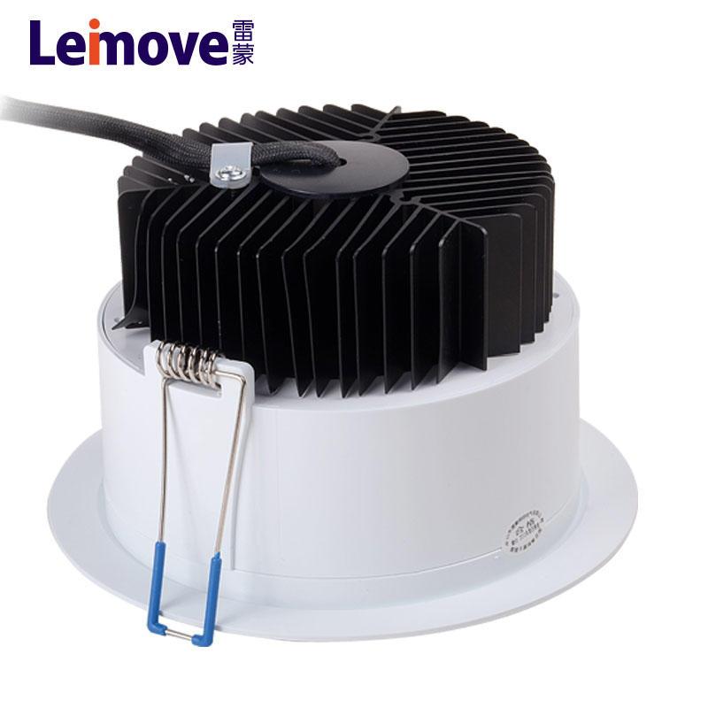 Led down light 9watt downlight with aluminium heatsink