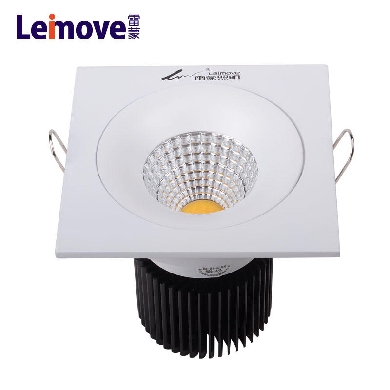 smd recessed led ceiling panel light dimmable square led downlight