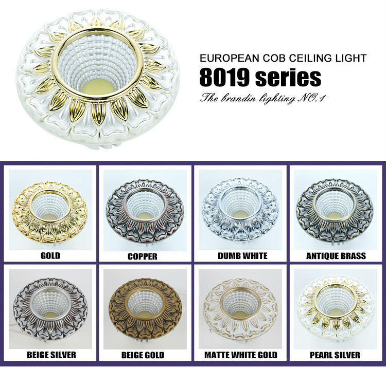 CRI 90 gold classical style led spot light