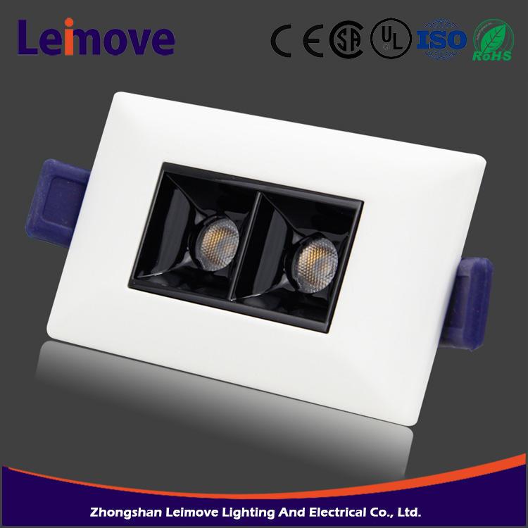 Hot sale recessed aluminum bridgelux cob 6W New Type led downlight