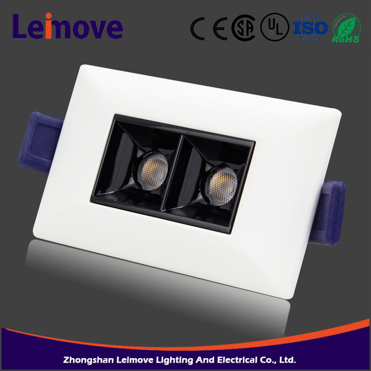 Hot sale recessed aluminum bridgelux cob 6W New Type led downlight