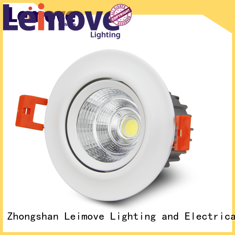 Leimove recessed bathroom led downlights white milky for customization