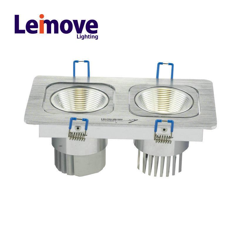 Grid led square downlight retrofit , 20w square led downlight